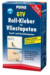 Pufas Kleber Kleister  GTV Rollkleber für Vlies Textil Gewebe Tapeten 500g