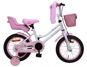 Amigo Magic - Kinderfahrrad für Mädchen - Mädchenfahrrad 14 zoll - Kinderfahrader ab 3-4 Jahre - Weiß