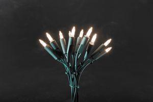 Konstsmide - LED Minilichterkette, 50 warm weiße Dioden, 230V, Innen, grünes Kabel ; 6303-100
