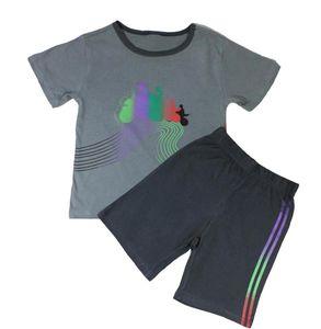 Marken Kinder Schlafanzug Größe 104 Motiv Motorrad Pyjama Shorty 100% Baumwolle, Herstellernummer:MARK109333_104, Größe:104, Farbe:Motorrad