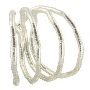 Halskette - biegsame Schlangenkette - uni - silberfarben - 5 mm