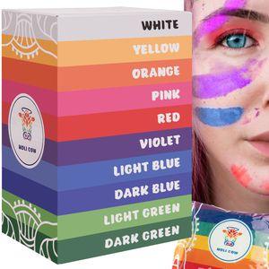 Pulver Holi Natural Farbbeutel Farbpigmente Farben Set 10565, Menge:10x100g