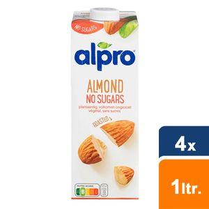 Alpro - mandeldrink Ohne Zucker geröstet - 4x 1L