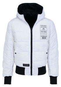ALPHA INDUSTRIES Hooded Puffer FD Reversible Herren Daunen Wendejacke, Größe:XL, Alpha Industries Farben:Black/White