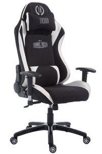 CLP Racing Bürostuhl XL Shift Stoff höhenverstellbar und drehbar, Farbe:schwarz/weiß, Fußablage:ohne Fußablage