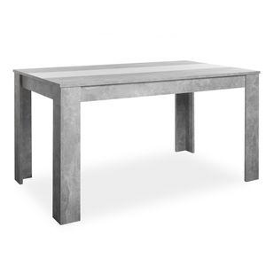 002740 NIKLAS Beton grau / weiß oder schwarz Esstisch Küchentisch Esszimmer Speisezimmer Tisch mit Wendeplatte