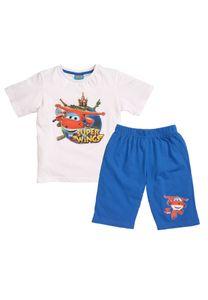 Super Wings Schlafanzug Shorty Kinder Pyjama Kurzarm 2 tlg. für Jungen , Größe:110-116