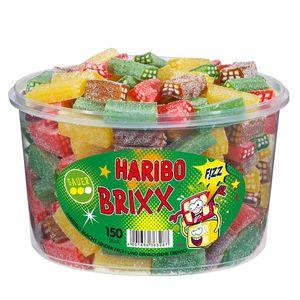 Haribo Prickel Brixx saures Brausepulver Fruchtgummi Konfekt 1200g