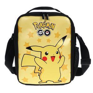 Pokemon Kinder Lunch Tasche   Isolierte Lunchbag mit Pikachu   21x26x6cm   Motiv: Pikachu