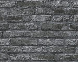 A.S. Création Papiertapete Dekora Natur 6, signalweiß, signalschwarz, 10,05 m x 0,53 m, 954701, 95470-1