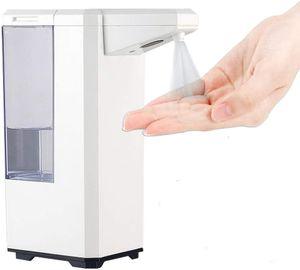 500ml Desinfektionspender, Elektrisch Sensor Seifenspender Wand Automatisch Spender, Berührungslos Transparent Nachfüllbarer Desinfektionsspender für Büro, Schule, Familien