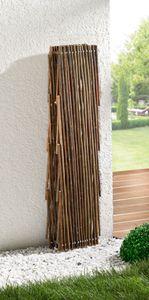 Weiden-Zaun 'Ziehharmonika' flexible Weidenäste, doppelt gearbeitet freistehend