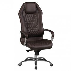 Bürostuhl MONTEREY Echt-Leder Braun Schreibtischstuhl 120KG