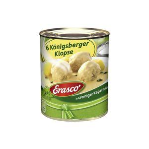 Erasco 6 Königsberger Klopse in cremig pikanter Kapernsauce 800g
