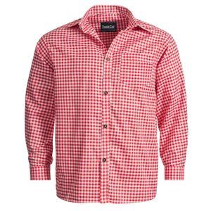 Trachtenhemd für Trachten Lederhosen Freizeit Hemd rot-kariert L