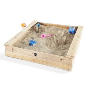 Plum Sandkasten aus Holz 113 x 113 x 230 cm, mit Sitzbänken, 25055