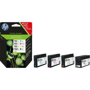 HP 950XL/951XL Tintenpatrone - Schwarz, Cyan, Magenta, Gelb Original - Kombipack - Tintenstrahl - 1500 Seiten Magenta, 1500 Seiten Cyan, 1500 Seiten Gelb, 2300 Seiten Schwarz - 4er Pack