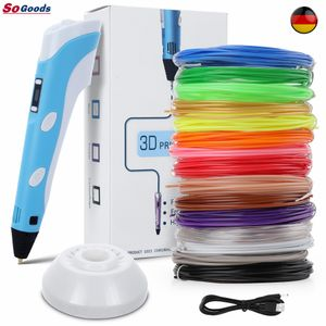 3D-Druckstift, 3D-Zeichenstift Mit LCD-Bildschirm, + 15 Farben Φ1,75 mm 3d Filament - insgesamt 45 m,3D-Doodler-Stift Kreatives DIY-Geschenk, Inspire Kids Teens Creativity Best Gifts