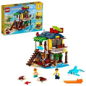LEGO 31118 Creator 3-in-1 Surfer-Strandhaus, Leuchtturm & Poolhaus, Sommer-Bauset