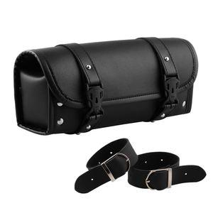 Motorrad-Kit-Tasche Motorrad-Utility-Tasche Motorrad-Seitentasche Universal Black Motorrad-Werkzeugtasche Vorderradgabel Lenker-Satteltasche