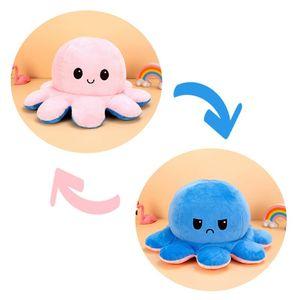 (Stil E - 40cm) Kuscheltiere, Niedliche Oktopus-Plüsch-Spielzeug, Doppelseitig Flip Oktopus-Stofftierpuppe, Kreative Spielzeuggeschenke für Kinder / Mädchen / Jungen / Liebhaber