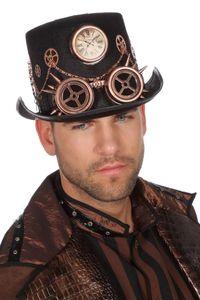 Kostüm Zubehör Steampunk Zylinder Hut Karneval Fasching bronze