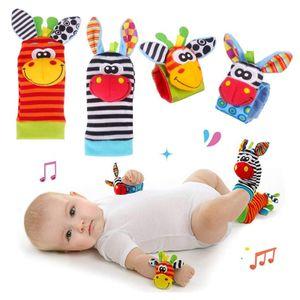Baby Rasseln Spielzeug Socken und Handgelenk, Fuß und Handgelenk Rassel Finder Plüschtier Spiel Socken für Neugeborene Mädchen und Jungen Geschenk