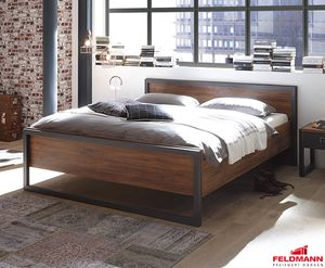 Bett Bettgestell Detroit 180x200cm Stirling Oak / schiefer
