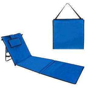 Gepolsterte Klappbare Strandmatte mit Verstellbarer Rückenlehne 12112