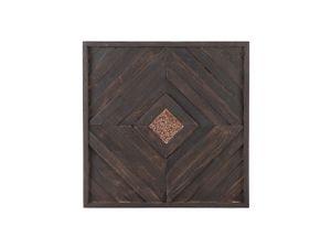 Wanddekoration Braun Teakholz 70 x 70 cm Elegant Quadratisch Modern