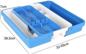 Besteckkasten ausziehbar 32-55cm Besteckeinsatz Besteck Kasten Küchenbesteck