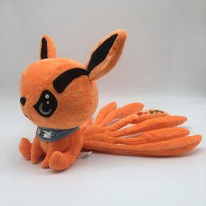 """Anime Naruto Neunschwänziger Fuchs Puppe Naruto Kurama Nine-Tails 12 """"Chibi Plüschtier mit beweglichen Schwänzen"""