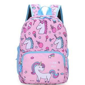 Einhorn Kinderrucksack Schultaschen für Mädchen Kleinkindrucksack für 3-7 Kinder -H10