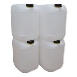 4 Stück 20 Liter Kanister Camping Wasserkanister Farbe natur (4x20knn)