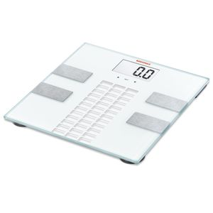 Soehnle Elektronische Personenwaage - max. 150 kg Tragkraft - LCD-Infodisplay - Körperfettanalyse - Körperwasseranalyse - Speicherfunktion;  63815
