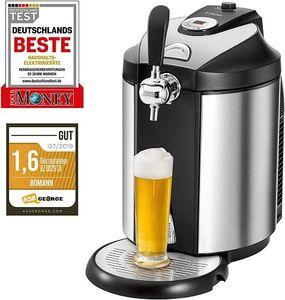 Bomann BZ 6029 CB Bierzapfanlage 5 Liter-Partyfässer LED-Display 2°C-12°C Edelstahlgehäuse