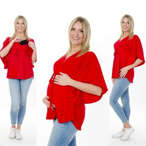 Stillshirt Stillbluse Fledermausärmel Größe L/XL in Rot