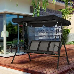 MCombo 3-Sitzer Hollywoodschaukel Gartenschaukel Gartenliege Schaukelbank 8007