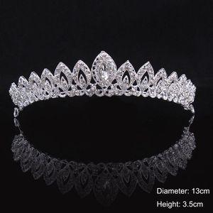 Kristall-BrautTiara-Krone Braut-Stirnband-Hochzeit Haarschmuck Zubehör -(EIN,)