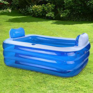 RELAX Pool Swimmingpool mit Kopfstützen und Cupholder Rechteckig L 140x100x60cm