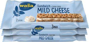 Wasa Sandwich Mild Cheese Käse 3er Volkorn Knäckebrot Riegel 90g