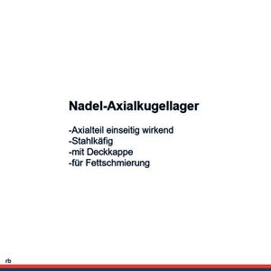 NKE Nadel-axialkugellager NKX15 -Z