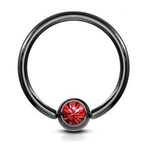 viva-adorno 1,2x10x4mm Universal Piercing Ring BCR Kristall Lippenring Klemmring Septumpiercing Brustpiercing Chirurgenstahl Z294,rot