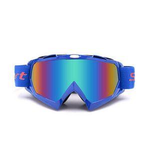 Crossbrille Skibrille Motocross Brille Sport Sonnenbrille Schneebrillen Blue-green Film