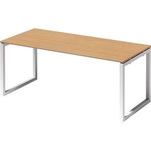 Bisley Schreibtisch CITO O 1800x740x800mm weiss/buche