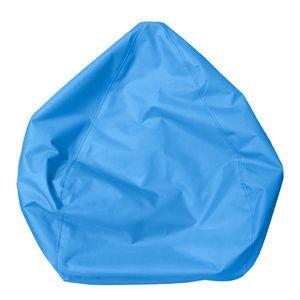 Sitzsackhülle ohne Füllung, Riesensitzsack Sitzsack Bezug Hülle aus Leinen Farbe Himmelblau