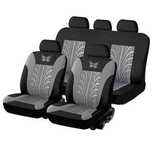 AUDEW Set Auto Sitzbezug Universal Set Sitzbezüge Schonbezüge Sitzauflage Autositzbezüge Grau