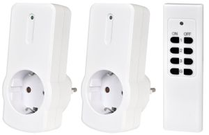 Funksteckdosen-Set mit 2 Adaptern und 1 Fernbedienung