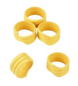 Spiralringe (20 Stück), gelb, 16 mm