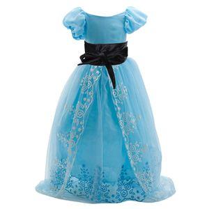 Prinzessin Blume Mädchen Lange Festzug Tüll Hochzeit Abendkleid Kleid Mit Samt Gürtel